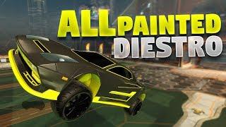 All Painted 'DIESTRO' Cars On Rocket League Ferocity Crate Showcase
