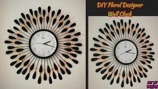 DIY Floral Designer Wall Clock/Diy wall clock/Wall Decor & Art/Room Decor/art my passion