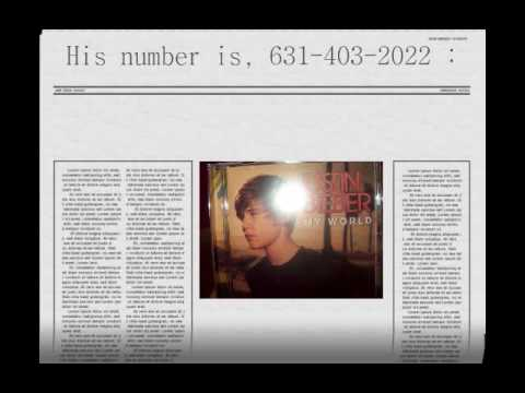 Justin Bieber's phone number **REAL** - YouTube