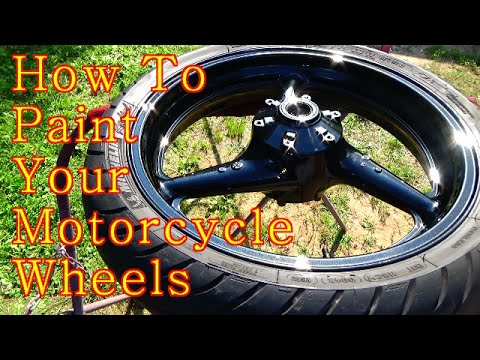 How to paint your motorcycle wheels step by step for How much to paint a motorcycle