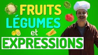 Expressions en Français avec des FRUITS et des LÉGUMES | VOCABULAIRE FRANÇAIS