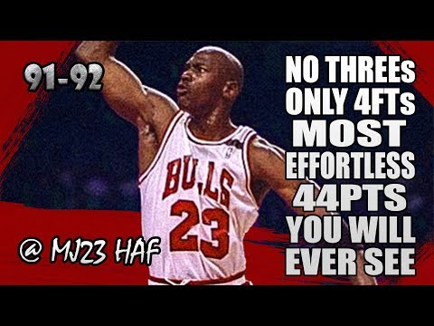 Michael Jordan Highlights vs Cavaliers (1992.03.28) - Most EFFORTLESS 44pts You Will Ever See!