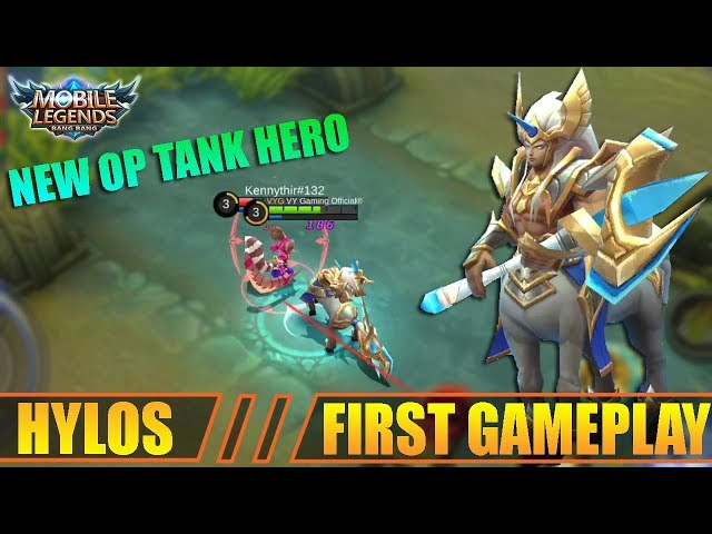 NEW HERO HYLOS THE OVERPOWER TANK First Gameplay - Mobile Legends