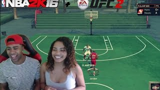 GIRLFRIEND VS BOYFRIEND ! Jordan Vs The Clamp God! NBA 2k16 + UFC 2  Fights & Funny Moments