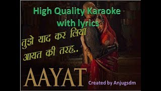 Aayat with original Alaap Karaoke with lyrics (High Quality)