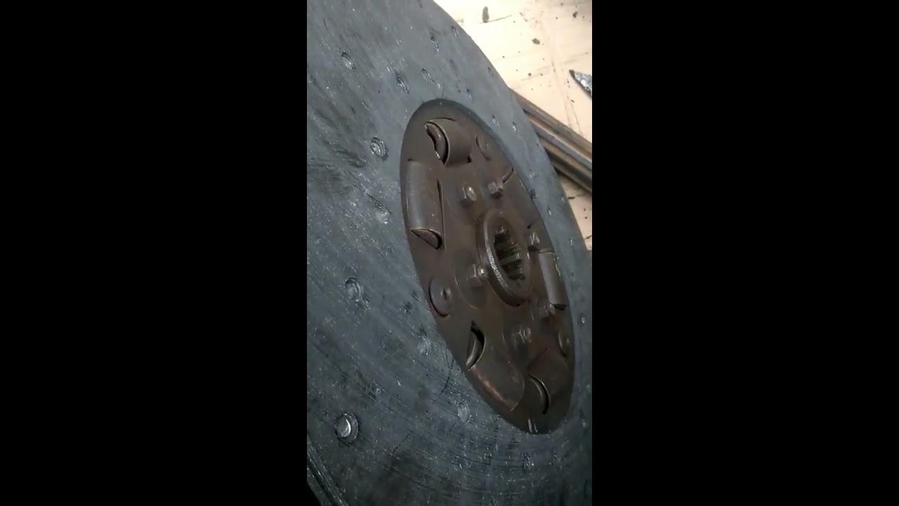 Установка двухдисковое сцепления МАЗ 1 - YouTube