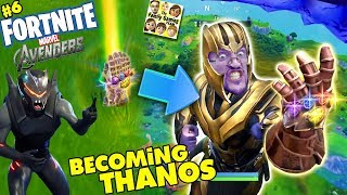 FORTNITE AVENGERS! Get Thanos Infinity Gauntlet Everytime? Marvel Battle Royale (FGTEEV #6)
