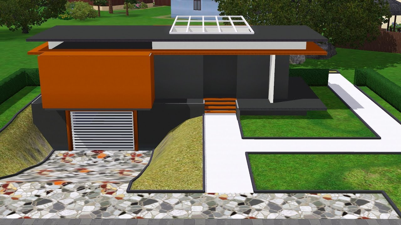 Small modern house the sims 3 speed build hd for Modern house 3