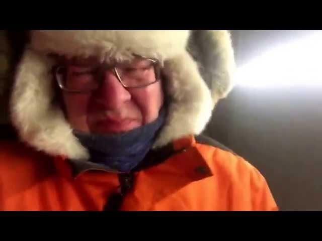 Nordkapp Vintertur 2015 - Video 28 - Peer i storm