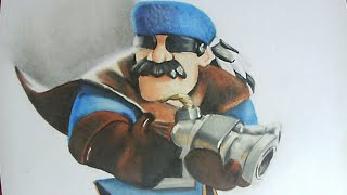 Desenhando caçador/ Drawing hunter (Clash Royale)