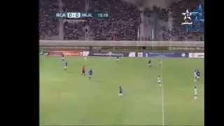 Raja vs Hilal Benghazi UNAF شغب جماهير المغانة 2017 Video