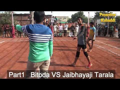 Proactive Kabaddi: Bitoda Vs Jaibhiyaji Tarala Part1