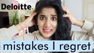 Big 4 consulting Career MISTAKES: My Deloitte corporate job consultant mistakes #consulting #big4