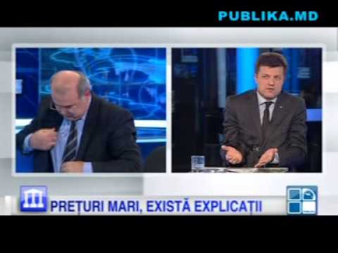 Criză de nervi în studioul Publika TV. Victor Stepaniuc l-a stropit cu apă pe Octavian Grama