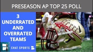 College Football: 3 Underrated And Overrated Teams In Preseason AP Top 25 Poll