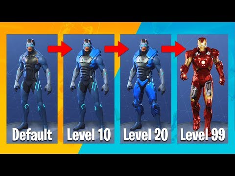 "FORTNITE SEASON 4 ""IRON MAN"" EVOLUTION UPGRADES!! (Fortnite Battle Royale)"