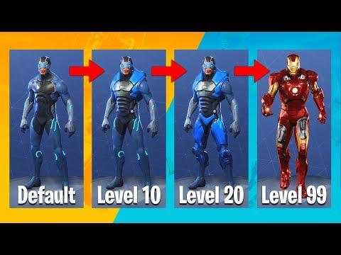 fortnite season 4 iron man evolution upgrades fortnite battle royale - omega iron man fortnite