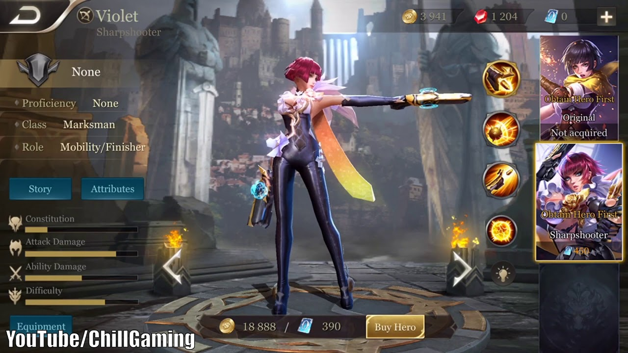 Violet New Hero Arena Of Valor V Arena Game Aov