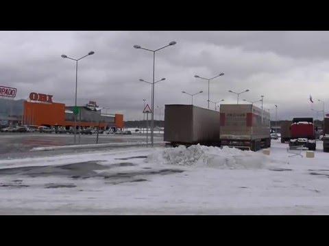 Грузовики, Дальнобой антиПлатон у Мега Дыбенко, Санкт-Петербург, СПб