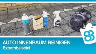 Auto Innenraum reinigen Extrembeispiel Innenreinigung Lederreinigung Lederpflege Fußmatten reinigen