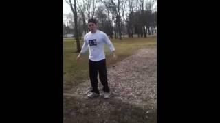 Dans ninja backflip