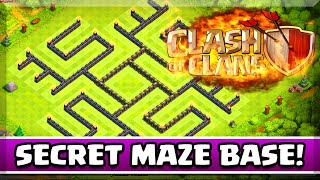 "Clash of Clans - SUPER SECRET MAZE BASE ! ""SECRET CLASH OF CLANS BASE"" ( MUST WATCH )"