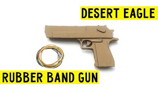 How To Make Cardboard Desert Eagle that shoots✅