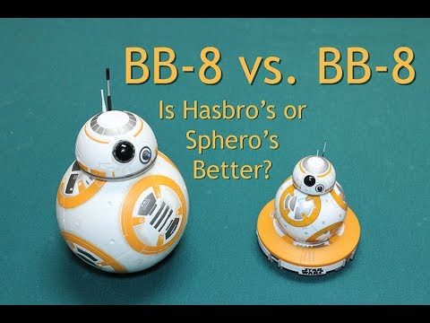 Comparison Review Both Star Wars BB8 Droids (BB-8, BB 8) Sphero and Hasbro Target - Timmy