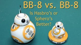 Comparison Review Both Star Wars BB8 Droids (BB-8, BB 8) Sphero and Hasbro Target - Timmy's Toy Box(We unbox, compare, and review both Star Wars The Force Awakens BB8 BB-8 droids, the app-enabled sphero BB-8 and the Hasbro Target Exclusive BB-8, ..., 2015-09-05T01:52:02.000Z)
