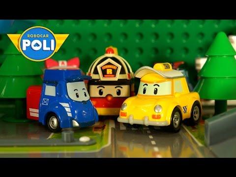 Робокар Поли и его друзья. Давайте поиграем. Мультик из игрушек: спасение Кэпа и Пости