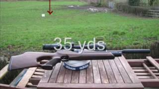 Weihrauch HW 100 Air Rifle 35 yds shot