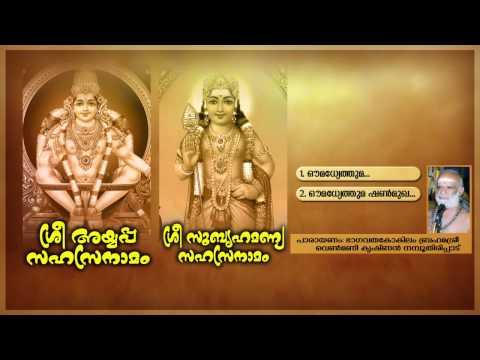 SREE AYYAPPA SAHASRANAMAM SREE SUBRAHMANYA SAHASRANAMAM | Hindu Devotional Songs Malayalam