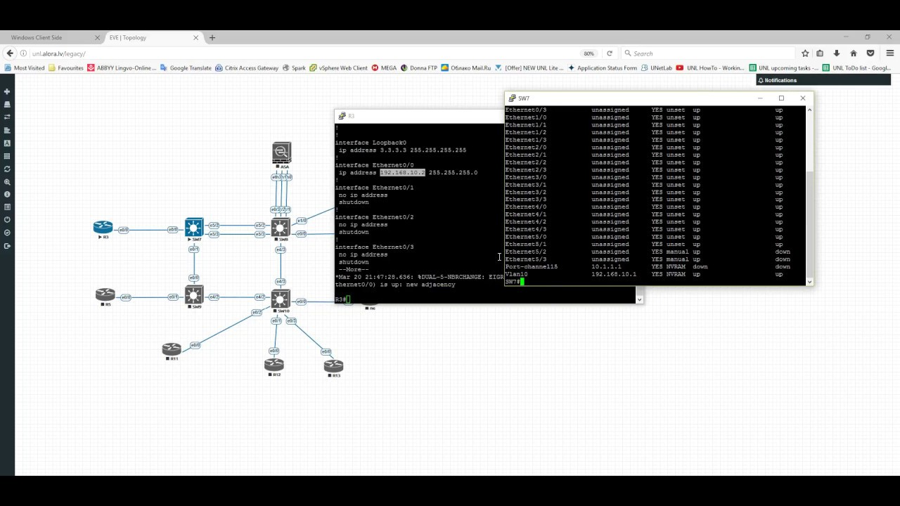 EVE install Telnet VNC Wireshark Local management