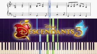"Sarah Jeffery - Queen of Mean (From ""Descendants 3"") - Piano Tutorial + SHEETS"