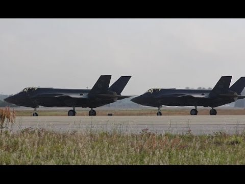 EGLIN AIR FORCE BASE!  F-16 Fighters From Hill AFB Fly Alongside F-35 Lightning II Fighters!