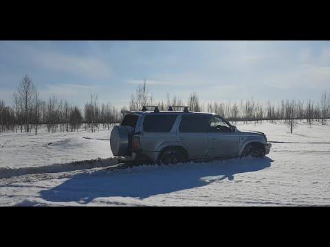 Разведка полей. Toyota Hilux Surf 185 3rz-fe 2001г. и Pajero Io . Offroad покатушки