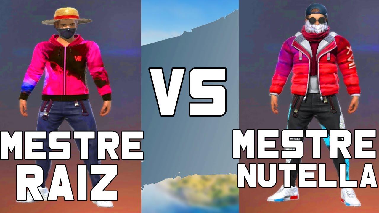MESTRE RAIZ VS MESTRE NUTELLA NO FREE FIRE | TENTE NÃO RIR