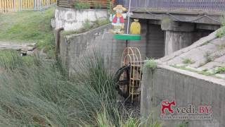 Город Поставы, водяное колесо на реке Мяделка, VEDI.BY