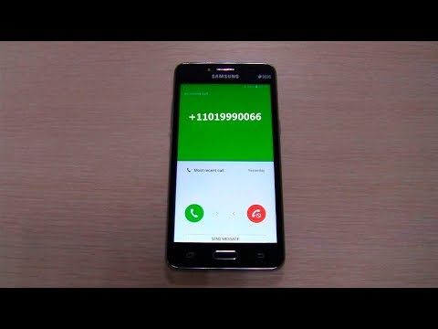 Incoming Call Samsung J2 Prime