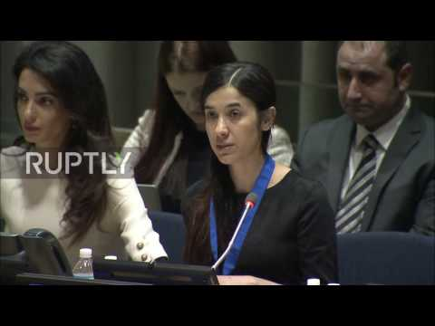UN: Yazidi survivor of IS atrocities made UN Goodwill Ambassador
