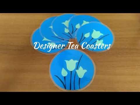 DIY | Designer Tea Coasters | Handmade Coasters | Easy to make