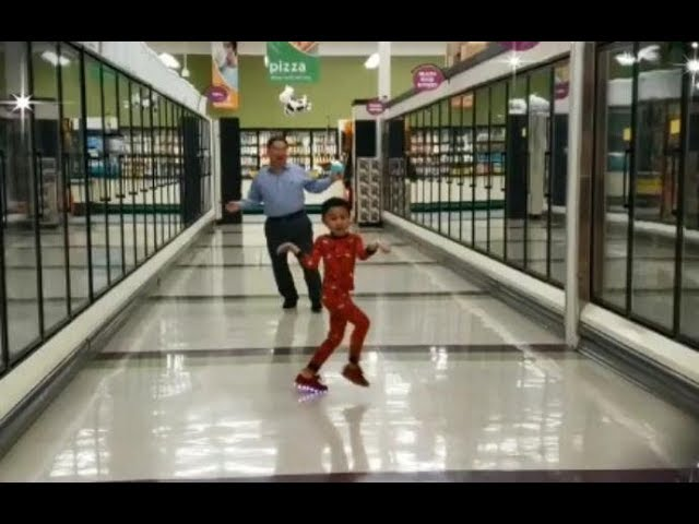 Boy asks grandpa for supermarket dance party before surgery