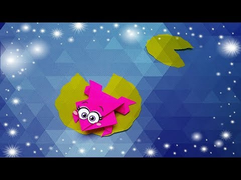 How to make origami jumping frog - paper toy. Paper crafts for kids.