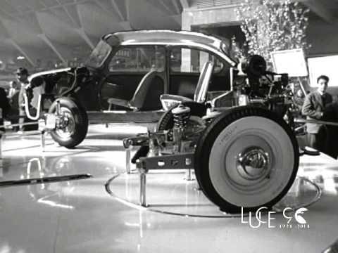 Salone dell'auto a Torino (1955)