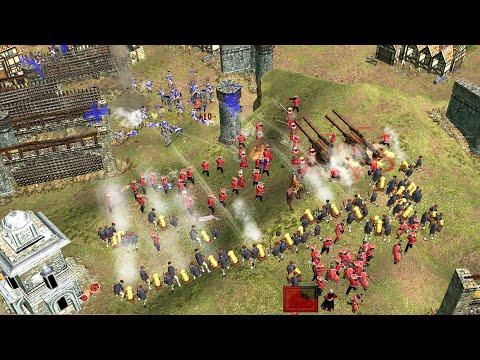 世紀帝國3-ESO-中國迫擊砲,破城牆拆建築,40分條約玩法 - YouTube