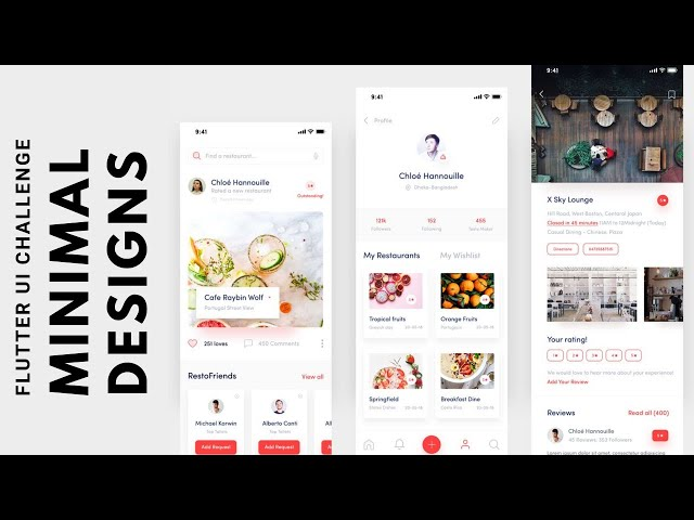 FlutterUI - Clean Designs - Restaurant reviews