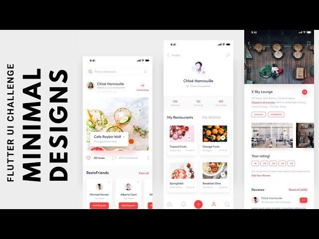 FlutterUI - Clean Designs - Restaurant reviews
