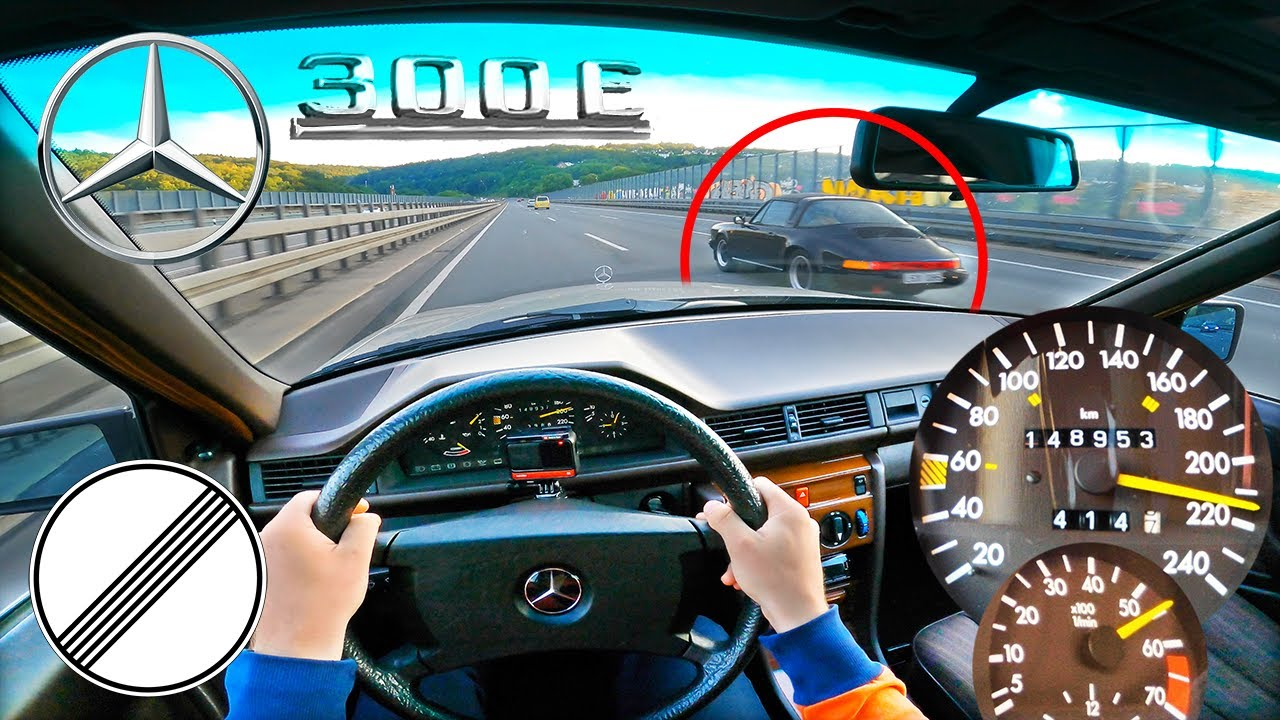 1988 MERCEDES-BENZ W124 300E AUTOMATIC 180HP TOP SPEED ON GERMAN AUTOBAHN❗️LOVELY 6 ZYL. SOUND 🏎