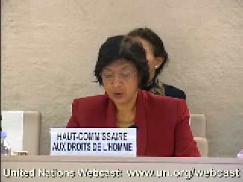Ms. Navanethem Pillay, High Commissioner for Human Rights