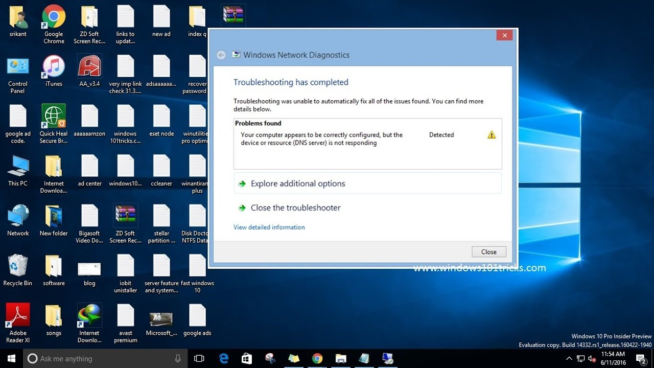 Modern setup host not responding picture - How To Fix Dns Server Is Not Responding Error On Windows 10 8 1 7